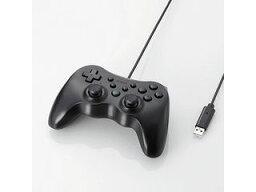 ELECOM エレコム 12ボタンUSBゲームパッド/振動機能・連射機能付/ブラック JC-U3712FBK