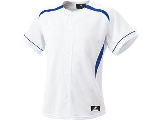SSK/エスエスケイ BW0901-1063 ダミーオープンプレゲームシャツ 【O】 (ホワイト×Dブルー)