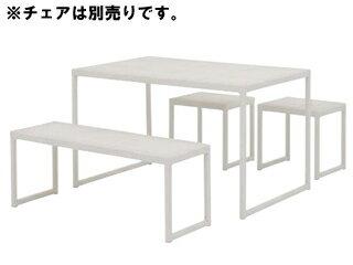 TAKASHO/タカショー KFA-11T8 庭座スクエアテーブル (ホワイト):エムスタ