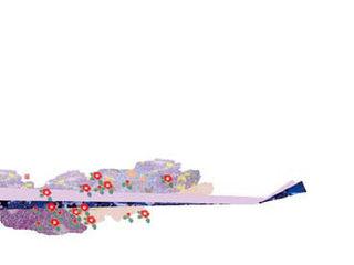 YAMACO/ヤマコー 尺3無蛍光紙四季彩まっと花友禅100枚入/霜月(しもつき・11月)