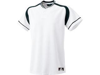 SSK/エスエスケイ BW2200-1090 2ボタンプレゲームシャツ 【L】 (ホワイト×ブラック)