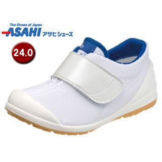ASAHI/アサヒシューズ KC36503-AB アサヒ健康くん 502A キッズ ジュニア スニーカー 【24.0cm・3E】 (ホワイト/ネイビー)