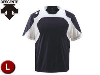 DESCENTE/デサント DB115-SNSW ベースボールシャツ 【L】 (Sネイビー×Sホワイト×ホワイト)