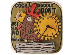 modern moose/モダン ムース PC028 Rooster 壁掛け時計 手作り 雄鶏…