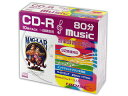 HIDISC/ハイディスク 10Pスリムケース 音楽用CD-R/700MB/一回記録用 HDCR80GMP10SC
