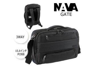 ff7131aedf52 NAVA DESIGN/ナヴァ デザイン PC対応□3WAYショルダーバックパック【ブラック】最大15.6インチ□手提げ・ショルダー・リュック  (GT069)