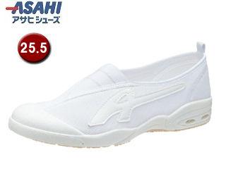 ASAHI/アサヒシューズ KD38581 アサヒドライスクール009EC【25.5cm・2E】 (ホワイト)