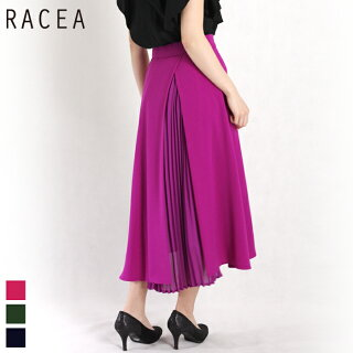 RACEA/ラシアバックプリーツフレアスカート(ピンク/Mサイズ)20110401
