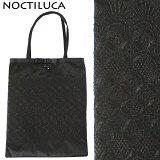 NOCTILUCA/ノクチルカ 刺繍 サテン サブバッグ (ブラック/a4サイズ)