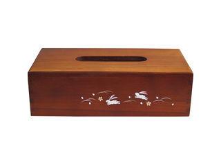 KANORYU/かのりゅう 加賀蒔絵木製ティッシュBOX 跳ねうさぎ/LT34−8s