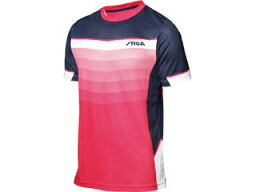STIGA/スティガ 1854377402 卓球ユニフォーム RIVER SHIRT リバーシャツ ピンク 2XS