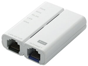 11b/g/n 300Mbpsに対応した超小型のホテル用ポケットルータ!ELECOM/エレコム 11n/g/b 300Mbps...