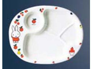 KANTOH/関東プラスチック工業 メラミン 子供食器 ミッフィーフルーツシリーズ ランチ皿 CM−69FR