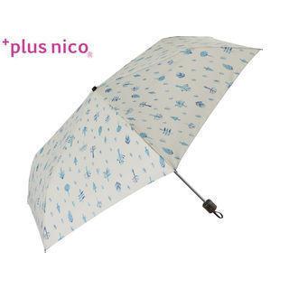 +plus nico/プラスニコ 12342  折りたたみ傘 手開き 軽量 フォレスト 全2色   (オフホワイト)