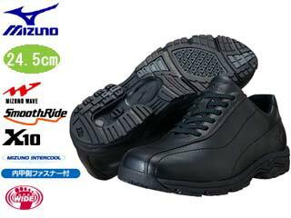 5KF351-09LD40IIISWレディースウォーキングシューズ(ブラック)【24.5cm】