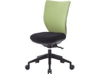 【】回転椅子3DAライムグリーン肘なしシンクロロッキング3DAS45M0LGN