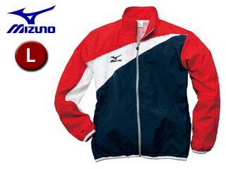 mizuno/ミズノ 85FQ100-86 トレーニングクロスシャツ 【L】 (ネイビー×レッド)