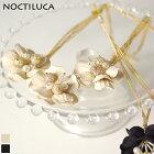 フラワーネックレス(オフホワイト)NOCTILCA/ノクチルカ
