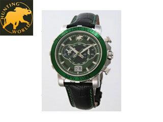 HW913GRハンティングワールド腕時計イリスグリーンメンズ
