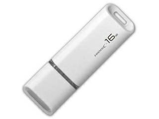 HIDISC/ハイディスク USB2.0 USBフラッシュメモリー 16GB ホワイト キャップ式 HDUF113C16G2
