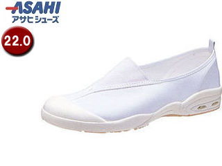 ASAHI/アサヒシューズ KD38571 アサヒドライスクール008EC【22.0cm・2E】 (ホワイト)