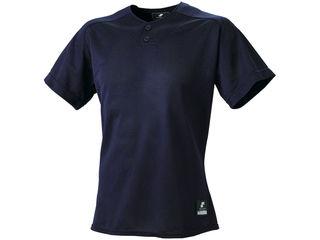 SSK/エスエスケイ BW1660-70 2ボタンプレゲームシャツ(無地) 【XO2】 (ネイビー)