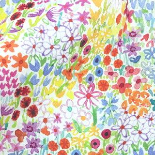 裾タック長袖ノーカラーブラウス(PoppysMeadow/花柄/Mサイズ)