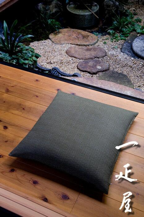 麻の葉 ( 墨黒 ) 座布団カバー 59×63cm ※八端判 【あす楽】