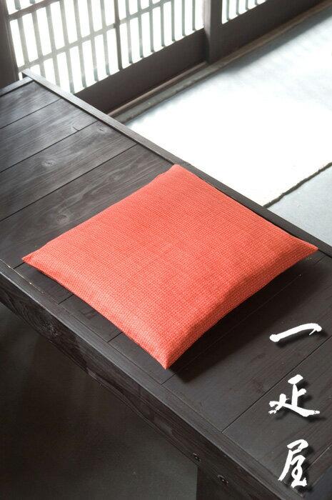 麻の葉 (もみじ) 座布団カバー 43×47cm ※茶席判