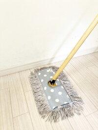 送料無料!むろの屋デザインモップ木製ハンドル付きフロアモップ【送料無料】/掃除道具
