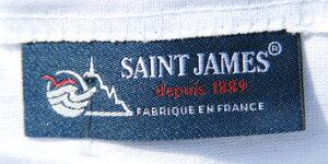 【St.JAMES】ナバルT(ホワイトxロイヤル)