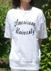 【Americana】UNIV.リブT(ホワイト)