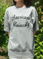 【Americana】UNIV.リブT(グレー)