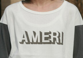 【Americana】AMERI-T(ホワイトxチャコール)