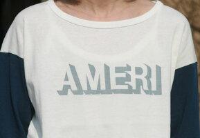 【Americana】AMERI-T(ホワイトxネイビー)