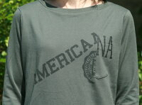 【Americana】リメイク風-T(オリーブ)