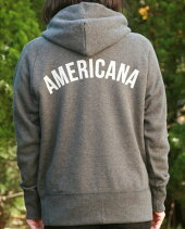 【AMERICANA】AMERICANAZIPパーカー(チャコール)