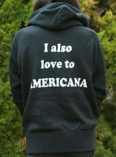 【Americana】AMERICANAフルZIPパーカー(ブラック)