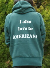 【Americana】AMERICANAフルZIPパーカー(グリーン)