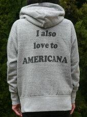 【Americana】AMERICANAフルZIPパーカー(グレー)