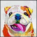 ミュゼ・デユオイルペイントモダン ファブリック パネルアート ペット 絵画 動物 油彩絵 壁掛け 手書き パネルアート フレームアート 犬 猫 鳥 魚 鹿 猿 熊 蛙 虫 馬 象 兎 豚 ブルドッグ フレーム付き ADD054