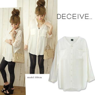 (SALE除外商品)DECEIVE Relax レースシャツ d1-189 (2012AW)