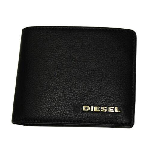 DIESEL ディーゼル 二つ折り財布 X01663 PS777 T8013 ブラック 財布 さいふ