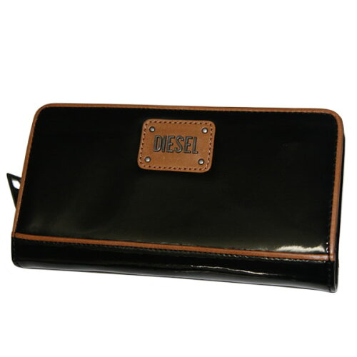 DIESEL ディーゼル 長財布 ラウンドファスナー X01493 PS887 T8013 ブラック ...