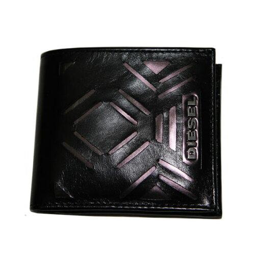 DIESEL ディーゼル 二つ折り財布 財布 さいふ ブラック X01674 PS942 H1572