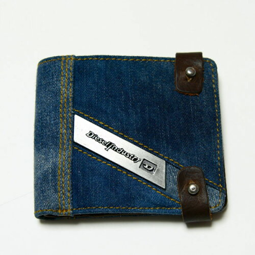 DIESEL ディーゼル 二つ折り財布 デニム X01135 PS766 T6067財布 さいふ