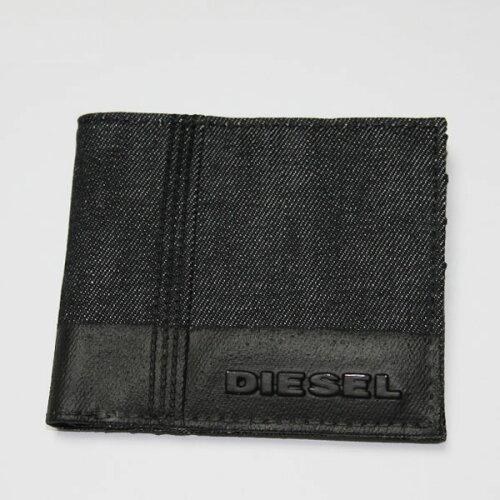 DIESEL ディーゼル 二つ折り財布 デニム 財布 さいふ X01413 PS878 H1669