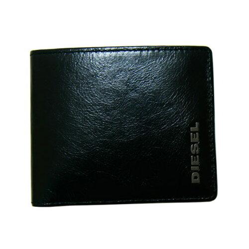 DIESEL ディーゼル 二つ折り財布 ブラック X01032 PS641 H3877財布 さいふ【YDKG-...
