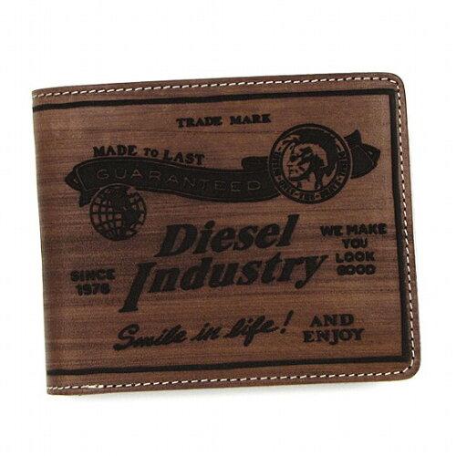 ディーゼル 財布 DIESEL 二つ折り財布 X01988 PR480 H4806 ブラウン さいふ