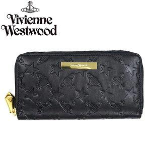 VivienneWestwoodヴィヴィアンウエストウッド長財布ラウンドファスナー5140STAR&ORBNERO484179